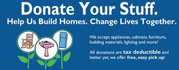 Donate furniture appliances and home improvement items today