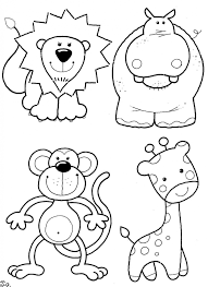 Easy Animal Coloring Pages For Kids At Getcoloringscom Free