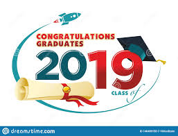 Graduation Program Invitation Designs 2019 Congratulations Graduates Card Stock Vector