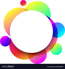 Round Circle Design White Round Background With Colour Circles