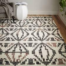 classy west elm kilim rug geometric step outdoor elsverdsee review pillow sofa tile ottoman teardrop ikat traced diamond metallic