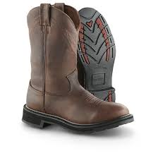 guide gear mens 12 pull on leather waterproof work boots