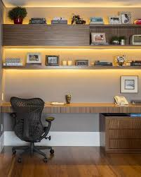 home office lighting. officeattic home office with shared desk and unique chairs also cone gold wall lamps lighting