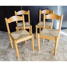 well suited rush seat chairs mid century style italian dining set of 4