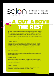 Salon By Premier Software Brochure