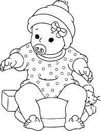Small Picture Baby Coloring Pages Free Printable Archives Throughout Baby