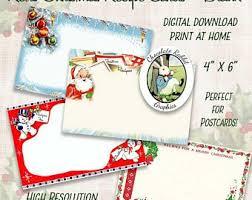 Printable Christmas Recipe Cards Primitive Christmas Recipe Cards Printable Vintage Holiday Etsy