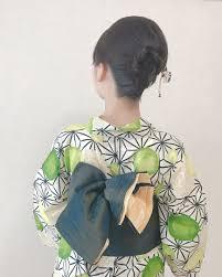 Moriyama Mamiさんのヘアスタイル ステキな浴衣麻の葉模様