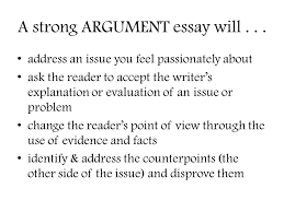 the argumentative essay this just won t cut it ppt  a strong argument essay will