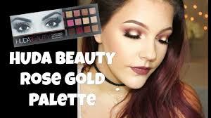 huda beauty rose gold palette halo eye tutorial
