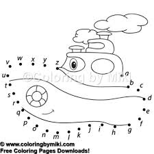Dot To Dot Game Cartoon Steamship Coloring Page 1148 Ultimate