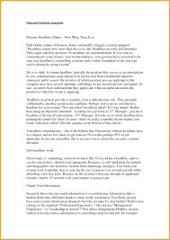 Resume Headline Unique Resume Headline Examples For Mca Freshers Lovely Strong How To Write