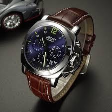 aliexpress com buy jedir men casual watch genuine leather luxury jedir men casual watch genuine leather luxury men watches quartz wristwatch chronograph 24 hours function