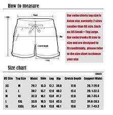 Swim Trunk Size Chart 74 Prototypic Swim Trunks Size Chart