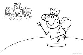 Small Picture Dibujo Peppa Pig Hada para colorear Etapa Infantil