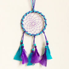 Beautiful Dream Catcher Images Beautiful Dream Catcher hand woven Dreamcatcher with blue purple 74