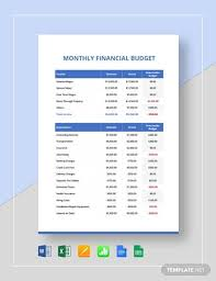 financial budget template free 12 financial budget samples in google docs google
