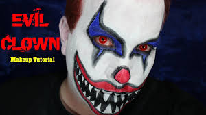 evil clown makeup tutorial 2016