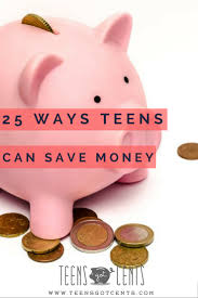 Teen saving money for each year
