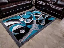 Black and turquoise rug Teal Abstract Modern Rug Contemporary Area Rug 5x8 Turquoise Black White Abstract Rug New Ebay White Abstract Modern Area Rugs Ebay