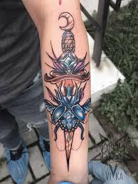 кинжал в стиле Neo Traditional Tattoo сделать тату у мастера вики