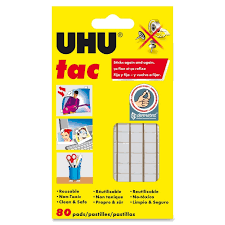 Amazoncom  Saunders UHU Tac Removable Adhesive Putty Tabs  Non Removable Wall Adhesive