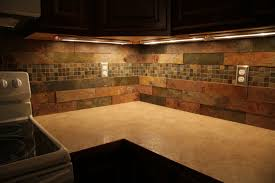 Slate Kitchen Backsplash Kitchen Contemporary Kitchen Backsplash Ideas With Dark Cabinets