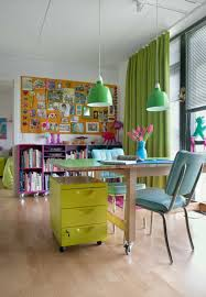 office idea. Colorful Home Office Idea For Outstanding Working Space