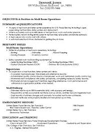 Resume Template Mailroom Clerk Resume Sample Complete Collection