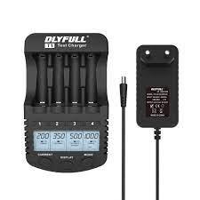 Dlyfull T1 akıllı pil şarj aleti LCD hızlı şarj akıllı pil şarj cihazı için  1.2V Ni MH/CD AAA AA pil USB çıkışı ile|Chargers