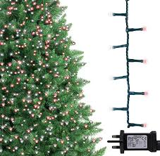 Christmas Tree Lights Amazon Christmas Tree Lights 1000 Led 25m Red And White Indoor Outdoor Christmas Lights Decorations Fairy String Lights Memory Timer Mains Powered 82ft Lit