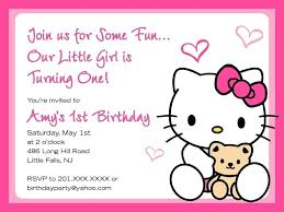 Hello Kitty Party Invitation Templates Hello Kitty Birthday