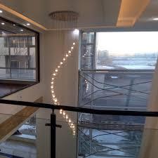 high ceiling lighting fixtures. Modern Crystal Chandelier Stair Long Spiral Lighting Fixture For Staircase Rain Drop Chandeliers High Ceiling Fixtures