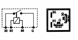 tr a tra horn problem though on the bosch relay i think the terminal shown as g in that drawing be labeled 87 on the relay