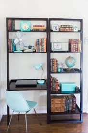 Office, Astonishing Desk With Bookshelves Bookcase Desk Wall Unit With  Shelves And And Torquis Chair ...