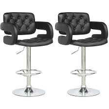 leather bar stools with arms. Black Tufted Leather Bar Stools With Arms And Stool Backs For Kitchen Island Seating Ideas B