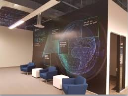 Wall murals office Doodle Engage Clients With Vibrant Wall Murals In Your Lobby Spotlight Signs Office Wall Murals And Graphics Scottsdale Az