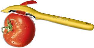 <b>Victorinox 7.6075</b>.8 Universal Peeler Pivoting Serrated Head Yellow ...