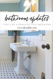 diy bathroom updates you can do this weekend divaofdiy com