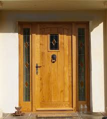 oak frame and filled external door and frame