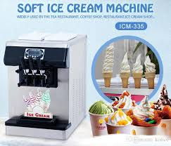name soft ice cream machine main power 110v 220v 50hz 60hz power 1 5kw uk eu us plug cooling air cooling compressor panasonic refrigerant