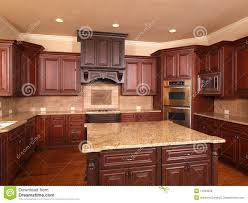 Kitchen Center Kitchen In Luxury Home With Center Island Stock Photo Image