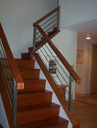 Stairs, Banisters And Railings Indoor Stair Railings Modern Wooden Stair  With Wooden Handrail And Stainless