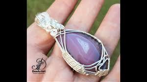 botswana agate pendant