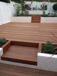 Terrasse Design Ideas Multi Level Deck In Hardwood Modern Garden Design Ideas