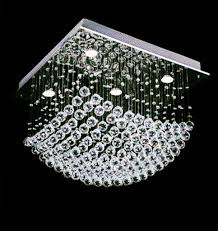 drop intended for 10 flush mount crystal chandelier amazing modern mc35011 inside 9