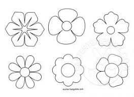 Flowers Templates Easter Flowers Template Easter Template Part 13