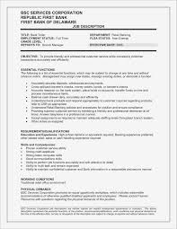 Best Of Resume Sample Of Bank Teller Margorochelle Com