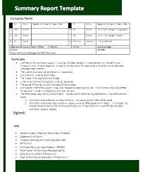 Company Report Template Adorable Project Summary Report Template Project Management Project Summary