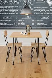 industrial cafe furniture. felix industrial cafe table solid oak and steel furniture